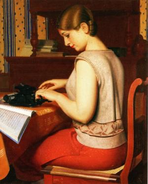 """Un merveilleux tableau """"la Secrétaire"""" de Jean Despujols entre dans les collections du Musées des beaux-arts de Libourne"""