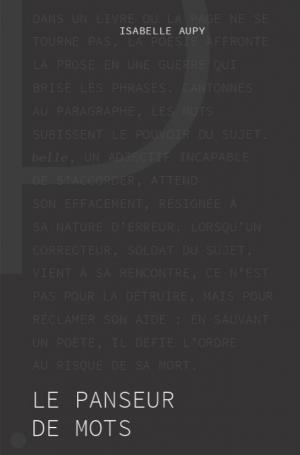 Le Panseur de mots, d'Isabelle Aupy